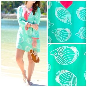 Sail To Sable Silk Cover Up Cabbage Tunic Dress